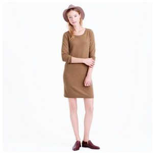 Jcrew Collection cashmere dress in camel